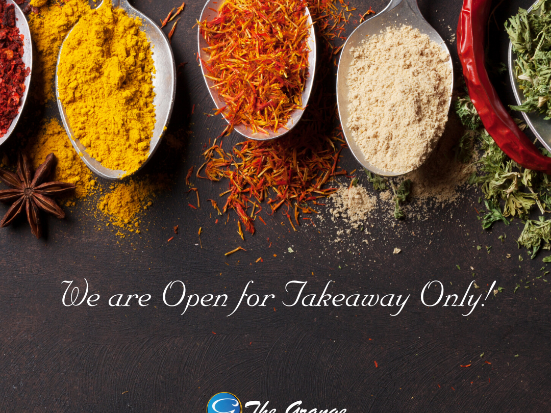 We are OPEN for Takeaway only!